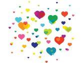 WallCandy Arts Overlapping Hearts, Multi (WallCandy Arts: 814217010543)