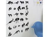 Black Alphabet Zoo ReStik Wall Stickers (Blik: 033170856634)