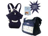 Luvable Friends Diaper Bag with Matching Baby Carrier, Bear Design With Free Gift (Luvable Friends: 033586378317)