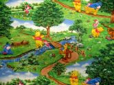 SheetWorld Fitted Basket Sheet - Pooh In The Park - Made In USA - 13 inches x 27 inches (33 cm x 68.6 cm) (sheetworld: 081159338251)