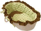 Hoohobbers Green Dots Moses Basket, Violet (Hoohobbers: 033586377532)