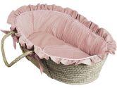 Hoohobbers Sherbert Pink Moses Basket, Brown (Hoohobbers: 053762260991)