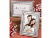 144PC FC5706 Matte Silver Metal Place Card/Photo Frames Wedding Baby Shower Favo (Fashioncraft: 638054057062)