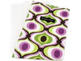 Ah Goo Baby Burp Cloth, Spa, White/Multi, 1-Pack (Ah Goo Baby: 852468004638)