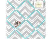 Turquoise and Gray Zig Zag Fabric Memory/Memo Photo Bulletin Board by Sweet Jojo Designs (Sweet Jojo Designs: 846480019633)