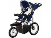 Schwinn Turismo Single Swivel Stroller - Blue with Grey Accents (Unknown: 038675011427)