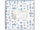 SwaddleDesigns Disney It's a Small World Hello Ultimate Receiving Blanket, True Blue (SwaddleDesigns: 810284015757)