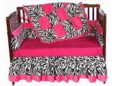 Minky Zebra Crib Bedding (Baby Doll: 009243122319)