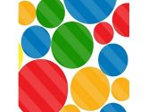 SheetWorld Fitted Portable / Mini Crib Sheet - Primary Colorful Dots - Made In USA (sheetworld: 738042953175)