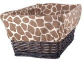 Peek a Boo Jungle Basket with Liner (Lambs & Ivy: 084122543102)