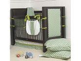 SheetWorld Crib Sheet Set - Brown Polka Dots Blue Woven - Made In USA (sheetworld: 608729893295)