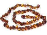 Momma Goose Amber Healing Necklace, Cognac Baroque (Momma Goose: 850863000705)