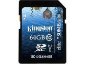 Kingston UHS-I Elite Class 10 64GB SDHC/SDXC Card (Kingston: SD10G3/64GB)