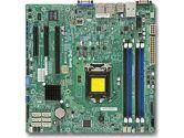Supermicro X10SLH-F Xeon E3 LGA1150 DDR3 ECC C222 6SATA 3PCIE IPMI 2GBE mATX Motherboard (SuperMicro: MBD-X10SLH-F-O)