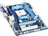 Gigabyte F2A55M-DS2 mATX FM2 A55 DDR3 1PCI-E16 1PCI-E1 1PCI VGA DVI RAID SATA2 USB2.0 Motherboard (Gigabyte: GA-F2A55M-DS2)