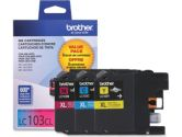 Brother LC103 3-PACK High Yield Colour Ink Cartridge (Brother Printer Supplies: LC1033PKS)