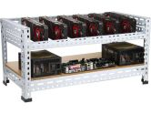 DIYPC  Ultimate Miner-V1 Open Air  Bench Computer Case Rack for Cryptocurrency (Bitcoin, Litecoin, Feathercoin) GPU mining – PC components not included - Retail (DIYPC: Ultimate Miner-V1)