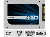 Crucial M550 SATA 1TB 2.5-inch Internal Solid State Drive SSD (CRUCIAL TECHNOLOGY: CT1024M550SSD1)