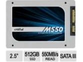 Crucial M550 SATA 512GB 2.5-inch Internal Solid State Drive SSD (CRUCIAL TECHNOLOGY: CT512M550SSD1)