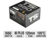 XFX TS Series 550W Single Rail ATX 12V 45A 24PIN ATX Power Supply 80PLUS Gold Certified (XFX: P1550GTS3X)