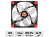 Thermaltake Luna Series 12 White LED 120mm Quiet High Airflow Fan (Thermaltake: CL-F018-PL12WT-A)