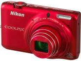 Nikon COOLPIX S6500 32160 Red 16MP 25mm Wide Angle Digital Camera HDTV Output (Nikon Inc: 32160)
