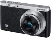 Samsung NXF1 20MP 3.0in Touch LCD FHD WIFI 9mm + 9-27mm/iFn Len Camera Black + Silver (Samsung Digital Cameras: EV-NXF1ZZB4ICA)