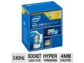 Intel Core i3 I3-4350 Haswell 3.6GHZ Processor LGA1150 3MB Cache Retail (Intel: BX80646I34350)