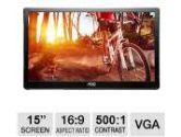 AOC E1659FWU 16IN TFT LCD USB Powered Monitor 8MS 16:9 500:1 Contrast 1366X768 (AOC: E1659Fwu)