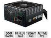 Cooler Master V550 – Compact 550W 80 PLUS Gold PSU with Modular Molex/SATA Cables, Great for Mini-ITX Builds (Cooler Master: RS550-AMAAG1-S1)
