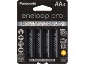 Panasonic Eneloop Pro High Capacity Rechargeable Battery AA 4 Pack Ni-MH 2550mAh Pre-Charged (Sanyo: BK3HCCA4BA)