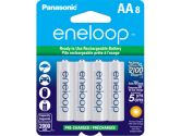 Panasonic Eneloop Rechargeable Battery AA 8 Pack Ni-MH 2000mAh Pre-Charged Made In Japan (Sanyo: BK3MCCA8BA)