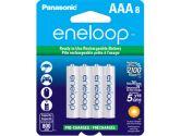 Panasonic Eneloop Rechargeable Battery AAA 8 Pack Ni-MH 800mAh Pre-Charged Made In Japan (Sanyo: BK4MCCA8BA)