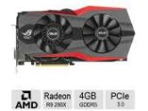 ASUS Radeon R9 ROG Matrix 290X 1050MHZ 4GB 5.4GHZ GDDR5 2xDVI HDMI DisplayPort PCI-E Video Card (ASUS: MATRIX-R9290X-P-4GD5)
