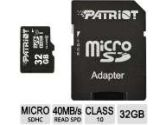 Patriot Signature Series 32GB microSDHC Flash Card (Patriot Memory: PSF32GMCSHC10BK)