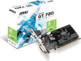 MSI GeForce GT 720 797MHZ 2GB 1.6GHZ GDDR3 HDMI DVI VGA Low Profile PCI-E Video Card (MSI: N720-2GD3LP)