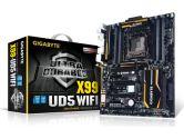 Gigabyte X99-UD5 WiFi ATX LGA1150 X99 DDR4 SATA3 2xPCIe16 4XPCIE8 GBLAN SLI/XFIRE USB3 Motherboard (Gigabyte: GA-X99-UD5 WIFI)