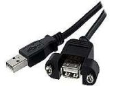 StarTech.com Panel Mount USB Cable A to A - F/M (Startech: USBPNLAFAM2)
