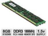 Crucial 8GB DDR3 1866 MT/S  CL13 Unbuffered ECC UDIMM 240PIN for MAC (CRUCIAL TECHNOLOGY: CT8G3W186DM)