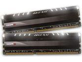 Avexir Core Series 8GB 2X4GB DDR3-1600 11-11-11-28 1.5V White LED Dual Channel Memory Kit - Black (Avexir: AVD3U16001104G-2CIW)