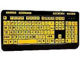 ADESSO EasyTouch 132 AKB-132UY Black / Yellow Wired Luminous 4X Large Print Multimedia Desktop Keyboard (Adesso: AKB-132UY)
