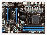 MSI Motherboard 970A-G43 AMD AM3+ 970/SB950 DDR3 SATA PCI Express USB 3.0 ATX Retail (MSI: 970A-G43)
