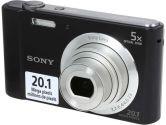 SONY Cyber-shot W800 DSC-W800/B Black 20.1 MP Digital Camera (Sony: DSC-W800/B)
