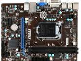 MSI Motherboard H81M-P33 Core i7 H81 LGA1150 DDR3 SATA PCI Express USB/VGA/DVI Microatx Retail (MSI: H81M-P33)