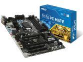 MSI B150 PC Mate ATX LGA1151 B150 DDR4 SATA3 2PCI-E16 3PCI-E1 HDMI DVI VGA USB3.1 Motherboard (MSI: B150 PC MATE)