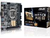 Asus Motherboard H110I-PLUS CSM S1151 DDR4 PCIE SATA USB 3.0 Mini-ITX (ASUS: H110I-PLUS/CSM)