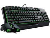 Cooler Master Devastator 2 Cherry Stem Keyboard and Mouse Gaming Combo With Green Back Light (COOLERMASTER: SGB-3032-KKMF1-US)