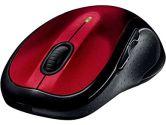 Logitech M510 Wireless Laser Mouse Back & Forward Buttons USB - Red (Logitech: 910-004554)