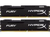 Kingston HyperX Fury Black 32GB 2X16GB DDR4 2400MHZ Non-ECC CL15 DIMM Dual Channel Memory (Kingston: HX424C15FBK2/32)