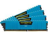 Corsair Vengeance Lpx 32GB 4X8GB DDR4-2666MHZ C16 1.2V Memory Kit - Blue (Corsair: CMK32GX4M4A2666C16B)